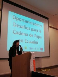 Carol Cecilia Chehab Rouaiheb, subsecretaria de comercialización del Ministerio de Agricultura, Ganadería, Pesca y Acuacultura (MAGAP) del Ecuador