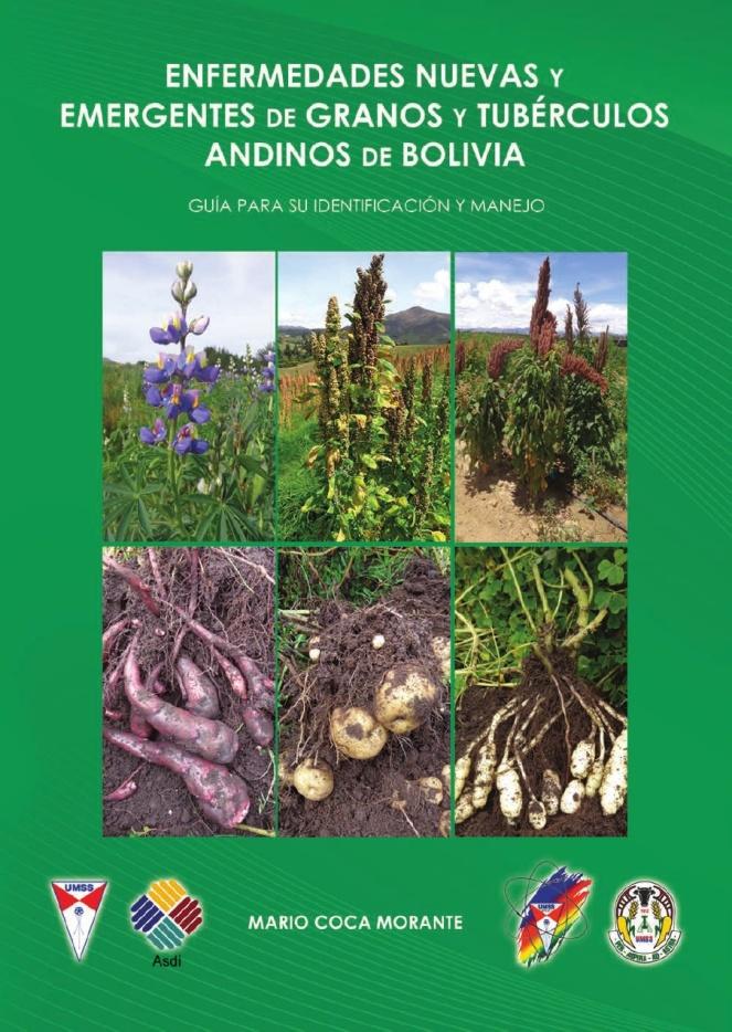 Caratula del libro sobre enfermedades de granos y tubérculos andinos